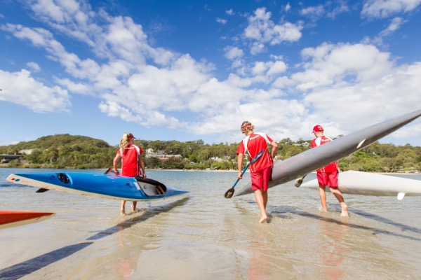 Kayaking Palm Beach Currumbin High School